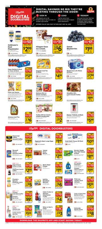 ShopRite - deals are valid from 05/16/21 to 05/22/21 - page 1.