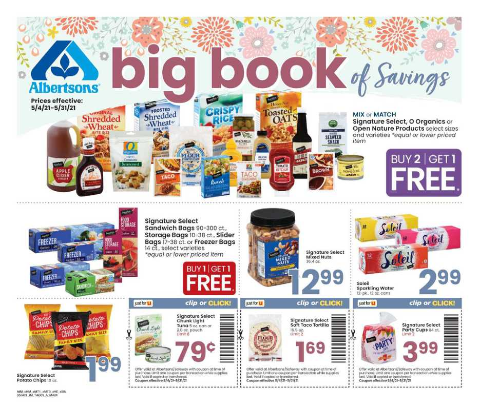 Albertsons - deals are valid from 05/05/21 to 05/31/21 - page 1.