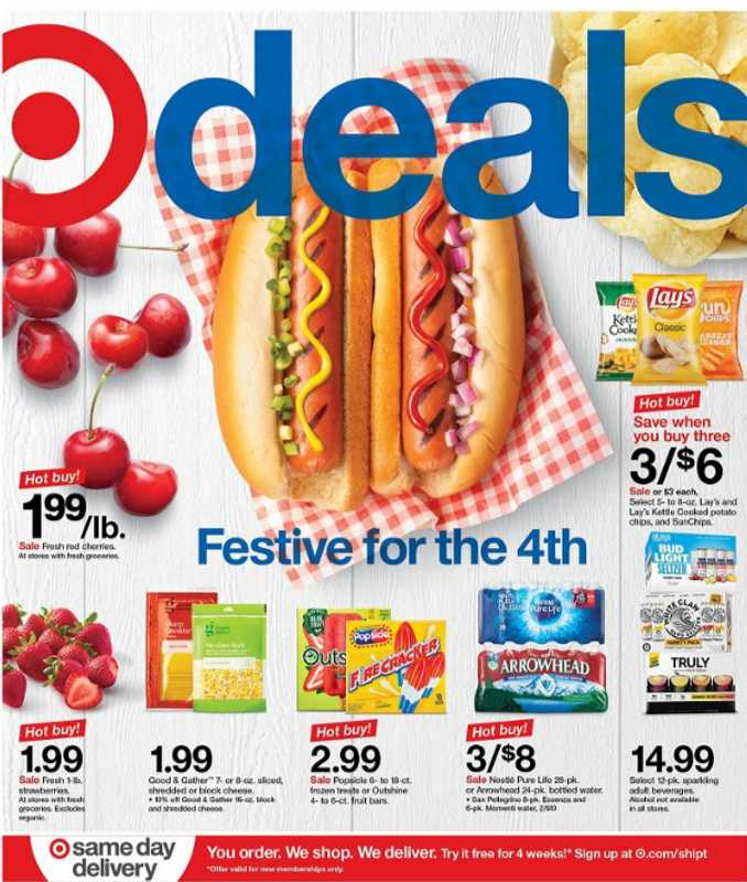 Target - deals are valid from 06/28/20 to 07/04/20 - page 1.