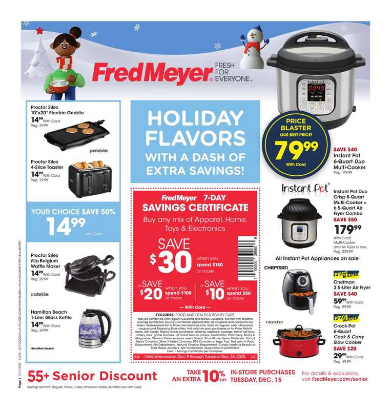 Fred Meyer - deals are valid from 12/09/20 to 12/15/20 - page 1.