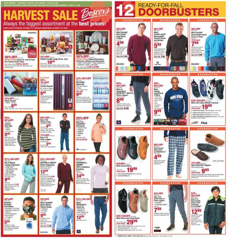 Boscov's - deals are valid from 10/01/20 to 10/07/20 - page 1.