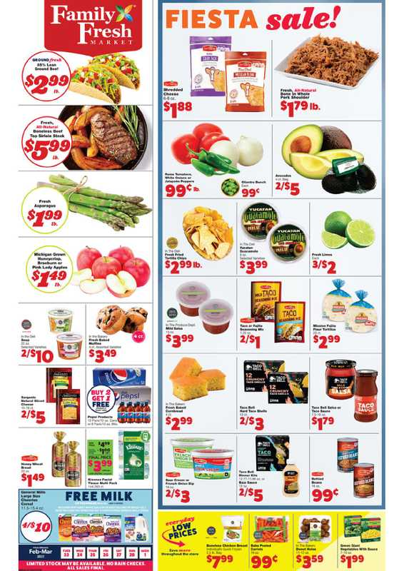 Family Fresh Market - deals are valid from 02/23/21 to 03/01/21 - page 1.