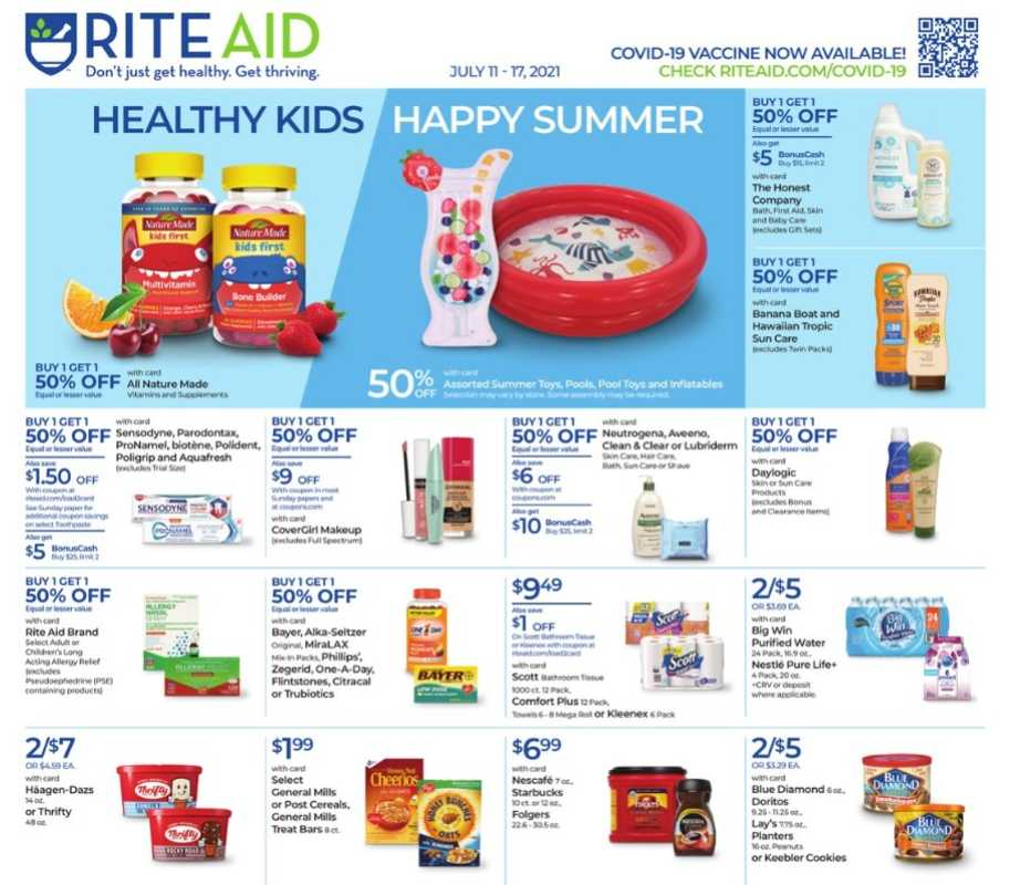 Rite Aid - deals are valid from 07/11/21 to 07/17/21 - page 1.