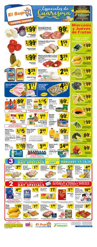 El Super - deals are valid from 02/17/21 to 02/23/21 - page 1.