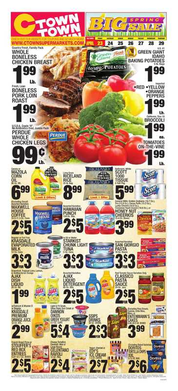 C-Town - deals are valid from 04/23/21 to 04/29/21 - page 1.