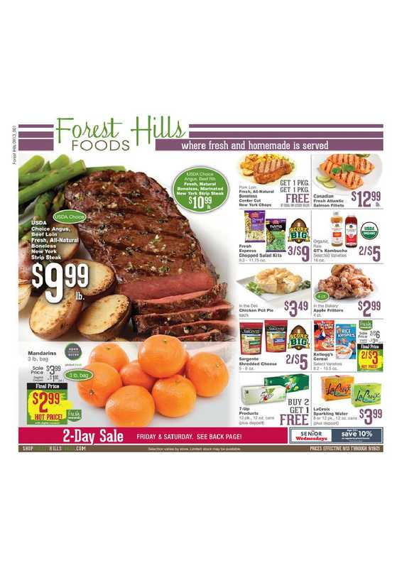 Forest Hills Foods - deals are valid from 09/13/21 to 09/19/21 - page 1.