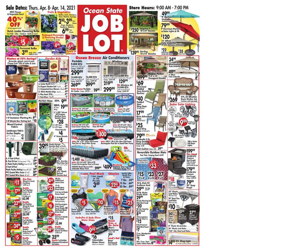 Ocean State Job Lot - deals are valid from 04/08/21 to 04/14/21 - page 1.