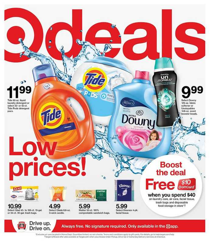 Target - deals are valid from 04/18/21 to 04/24/21 - page 1.