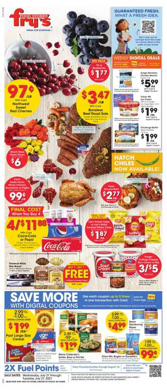 Fry's Food - deals are valid from 07/21/21 to 07/27/21 - page 1.