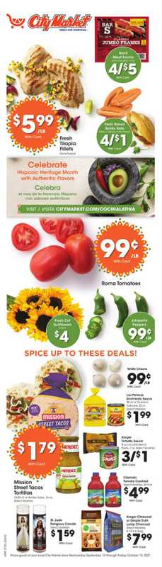 City Market - deals are valid from 09/15/21 to 10/15/21 - page 1.