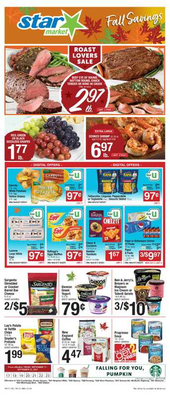 Star Market - deals are valid from 09/17/21 to 09/23/21 - page 1.