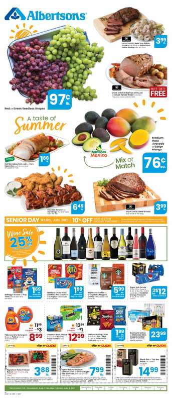 Albertsons - deals are valid from 06/02/21 to 06/08/21 - page 1.