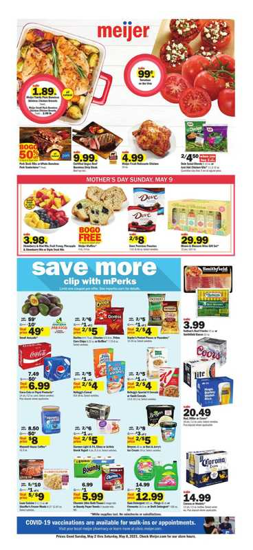 Meijer - deals are valid from 05/02/21 to 05/08/21 - page 1.
