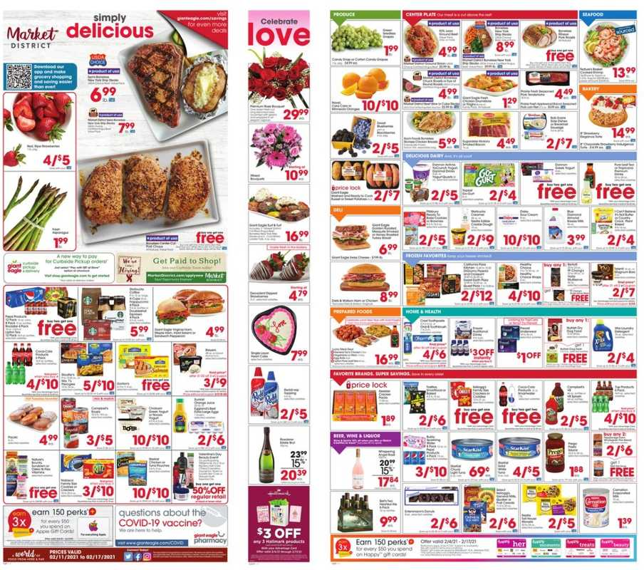 Market District - deals are valid from 02/11/21 to 02/18/21 - page 1.