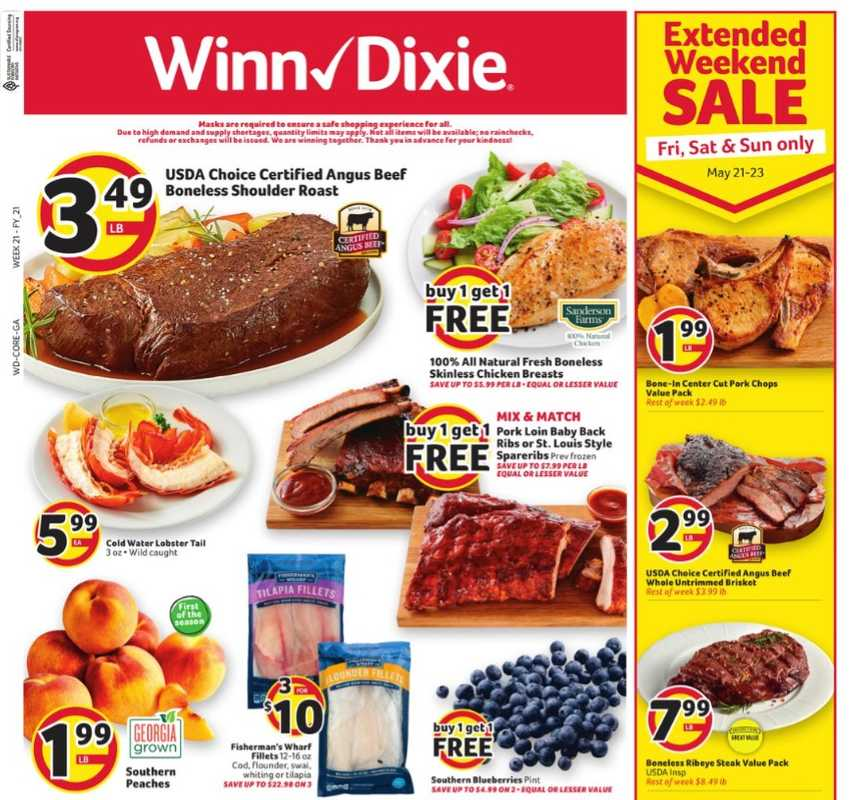 Winn Dixie - deals are valid from 05/19/21 to 05/25/21 - page 1.