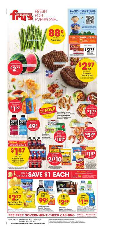 Fry's Food - deals are valid from 04/14/21 to 04/20/21 - page 1.