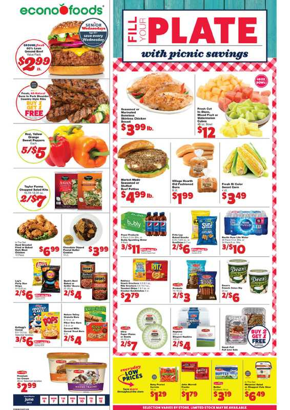 Econofoods - deals are valid from 06/06/21 to 06/12/21 - page 1.