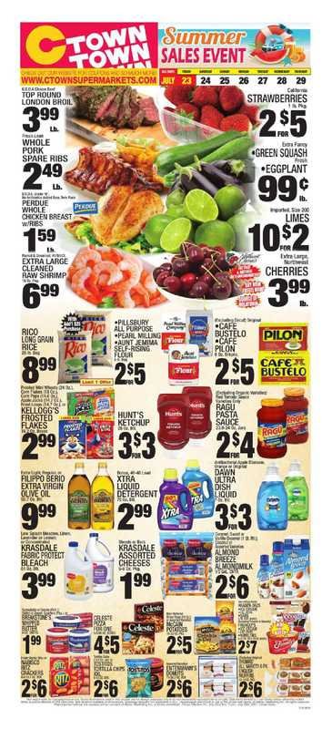 C-Town - deals are valid from 07/23/21 to 07/29/21 - page 1.