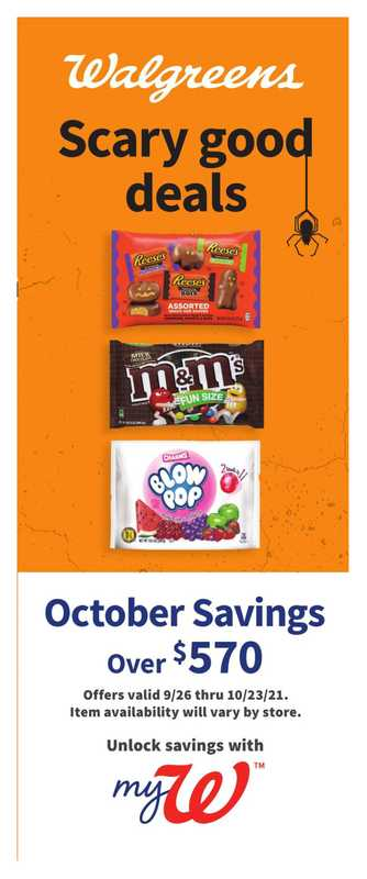 Walgreens - deals are valid from 09/26/21 to 10/23/21 - page 1.