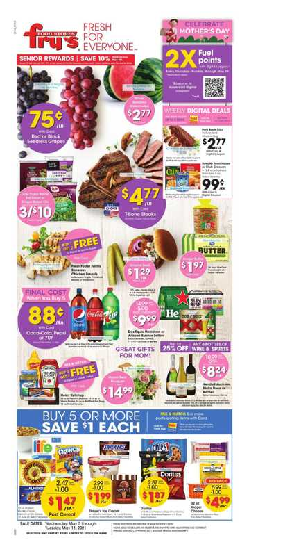 Fry's Food - deals are valid from 05/05/21 to 05/11/21 - page 1.