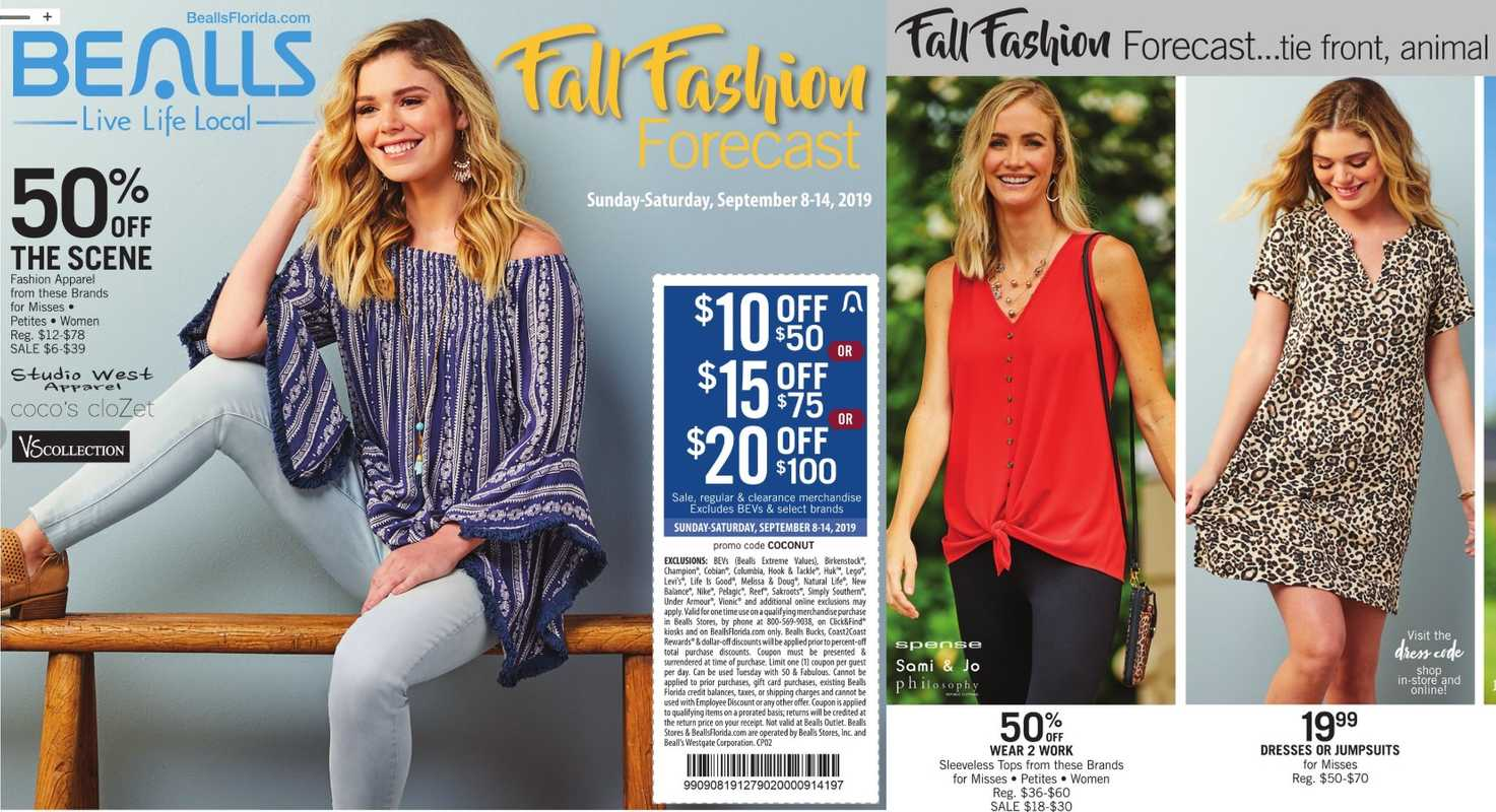 Bealls Florida - deals are valid from 09/09/19 to 09/14/19 - page 1.