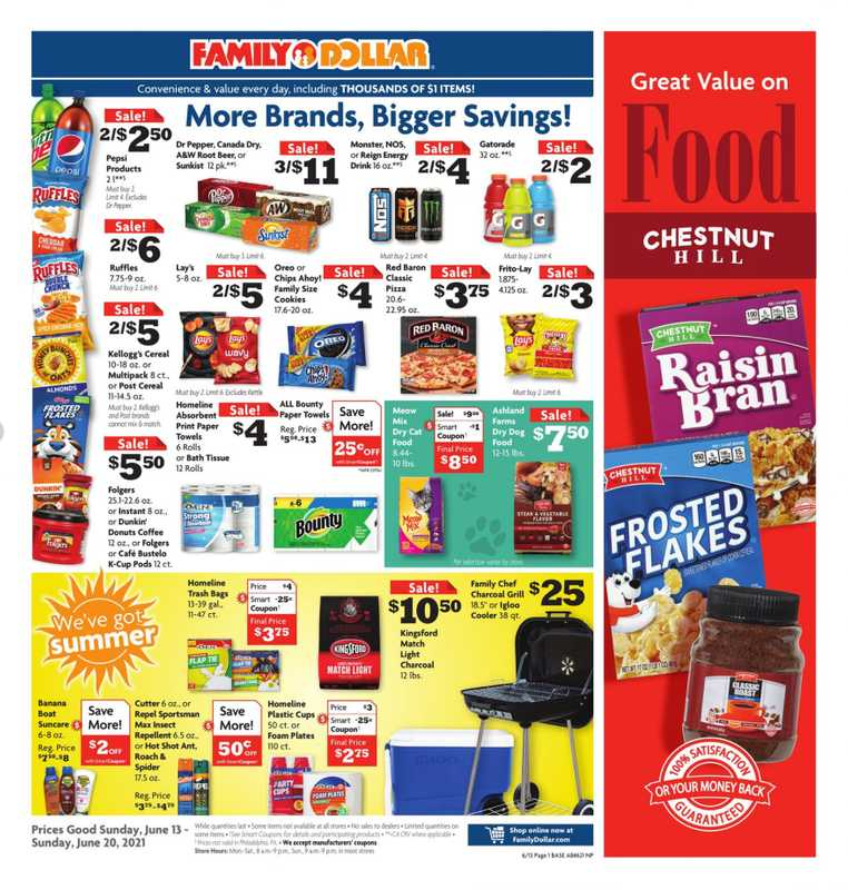 Family Dollar - deals are valid from 06/13/21 to 06/19/21 - page 1.