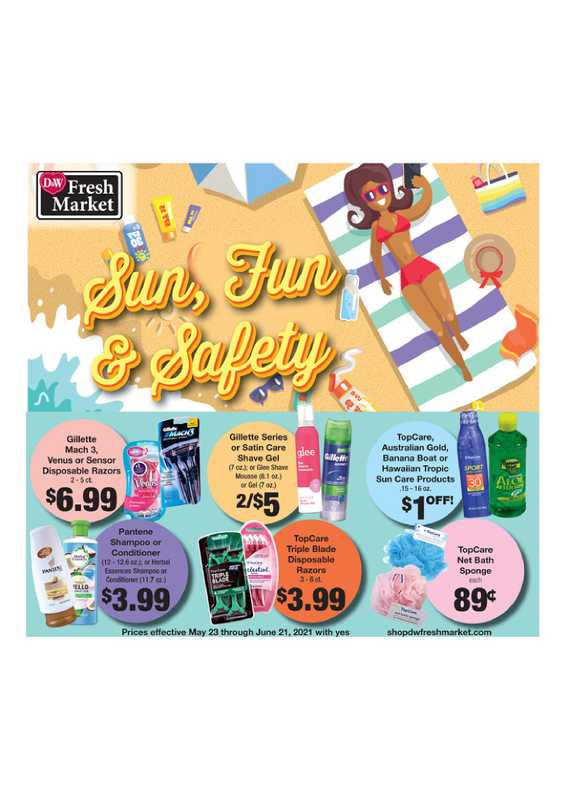 D&W Fresh Market - deals are valid from 05/23/21 to 06/21/21 - page 1.