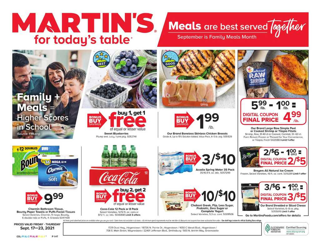 Martin's - deals are valid from 09/17/21 to 09/23/21 - page 1.