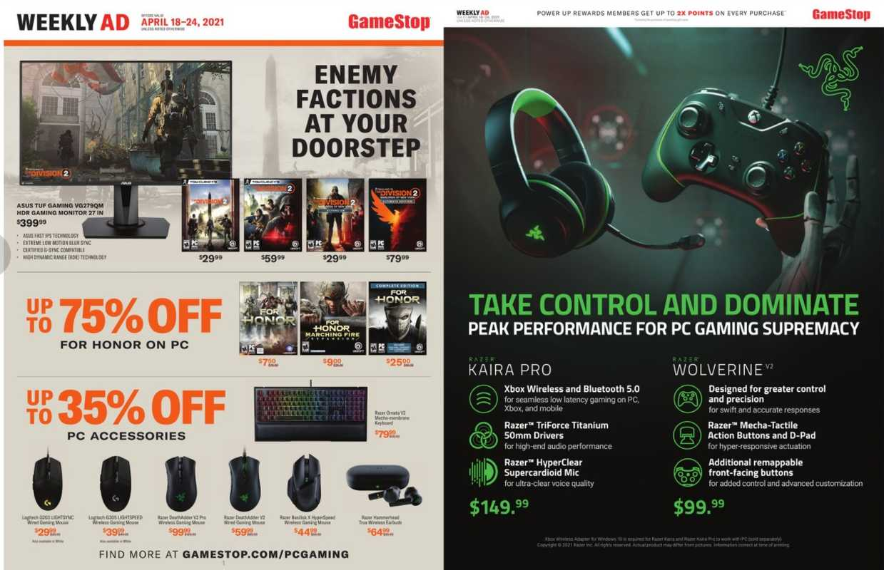 GameStop - deals are valid from 04/18/21 to 04/24/21 - page 1.