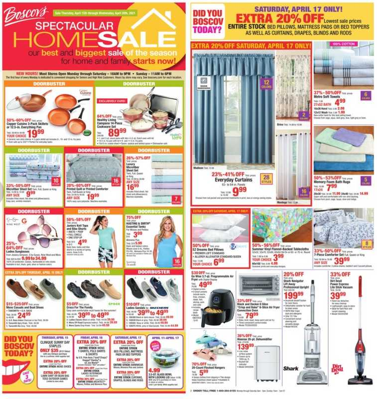 Boscov's - deals are valid from 04/15/21 to 04/27/21 - page 1.