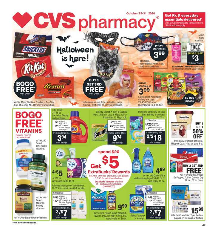 CVS - deals are valid from 10/25/20 to 10/31/20 - page 1.