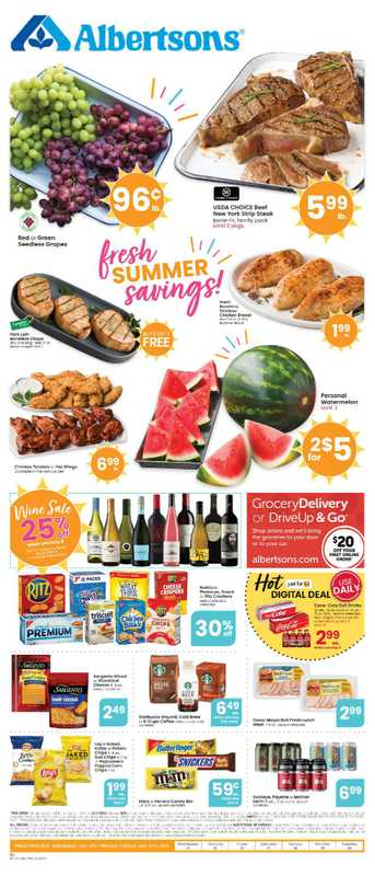Albertsons - deals are valid from 07/14/21 to 07/20/21 - page 1.