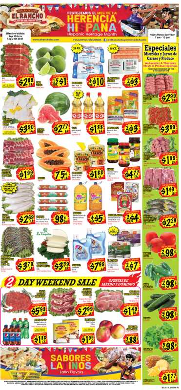 El Rancho Supermarket - deals are valid from 09/15/21 to 09/21/21 - page 1.