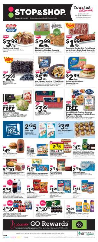 Stop & Shop - deals are valid from 01/22/21 to 01/28/21 - page 1.