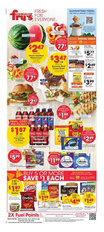Fry's Food - deals are valid from 07/14/21 to 07/21/21 - page 1.