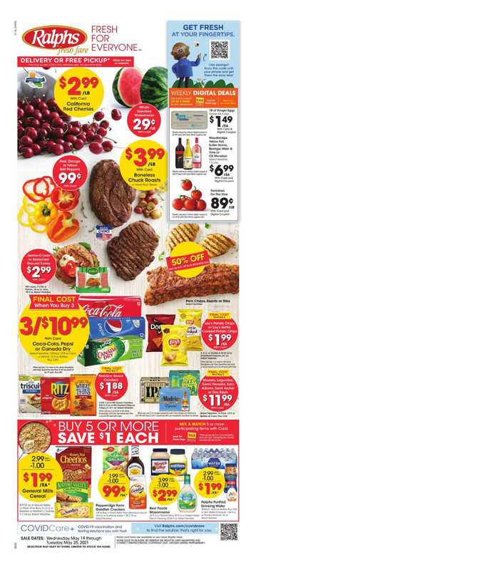 Ralphs - deals are valid from 05/19/21 to 05/25/21 - page 1.