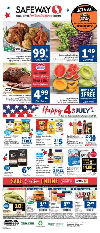 Safeway - deals are valid from 06/30/21 to 07/06/21 - page 1.