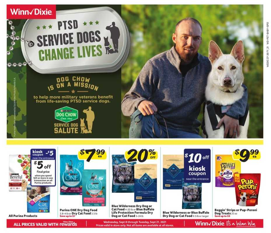 Winn Dixie - deals are valid from 09/08/21 to 09/21/21 - page 1.