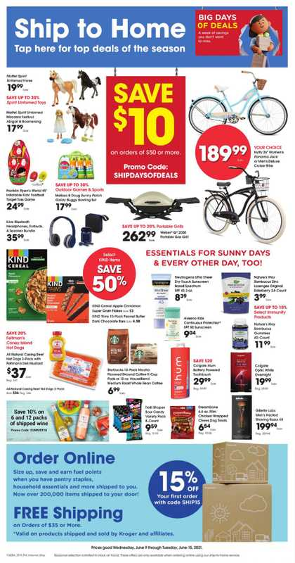 Kroger - deals are valid from 06/09/21 to 06/15/21 - page 1.