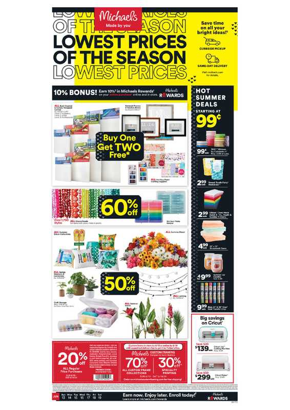 Michaels - deals are valid from 06/13/21 to 06/19/21 - page 1.