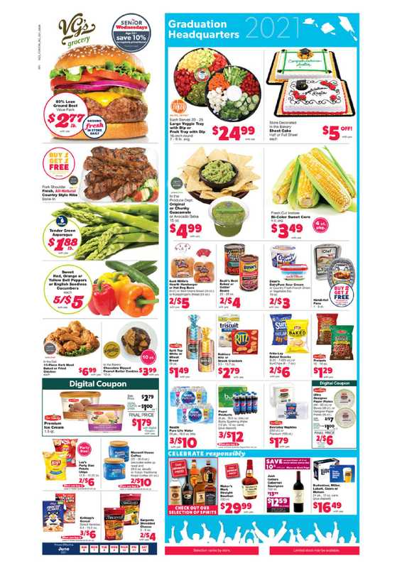 VG's Grocery - deals are valid from 06/06/21 to 06/12/21 - page 1.