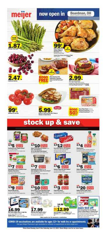 Meijer - deals are valid from 06/06/21 to 06/12/21 - page 1.