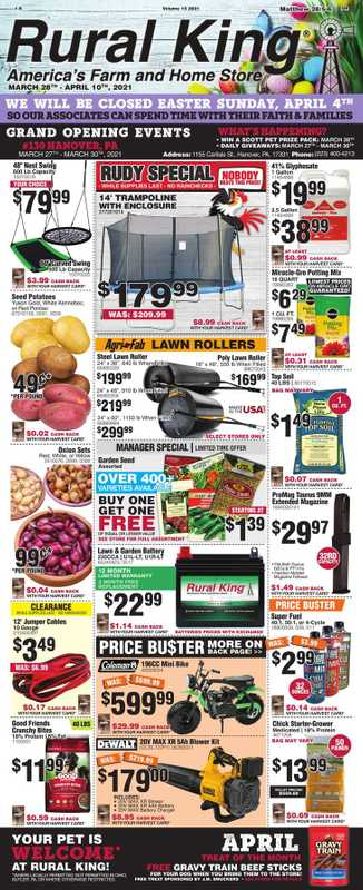 Rural King - deals are valid from 03/28/21 to 04/10/21 - page 1.