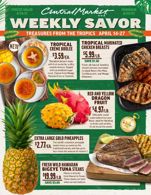 Central Market - deals are valid from 04/14/21 to 04/20/21 - page 1.