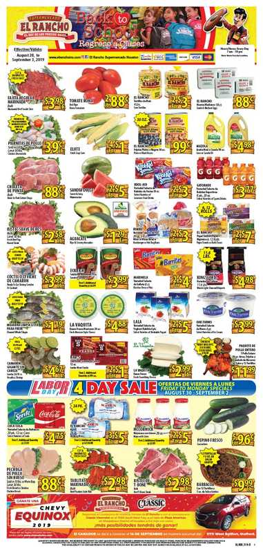 El Rancho Supermarket - deals are valid from 08/28/19 to 09/03/19 - page 1.