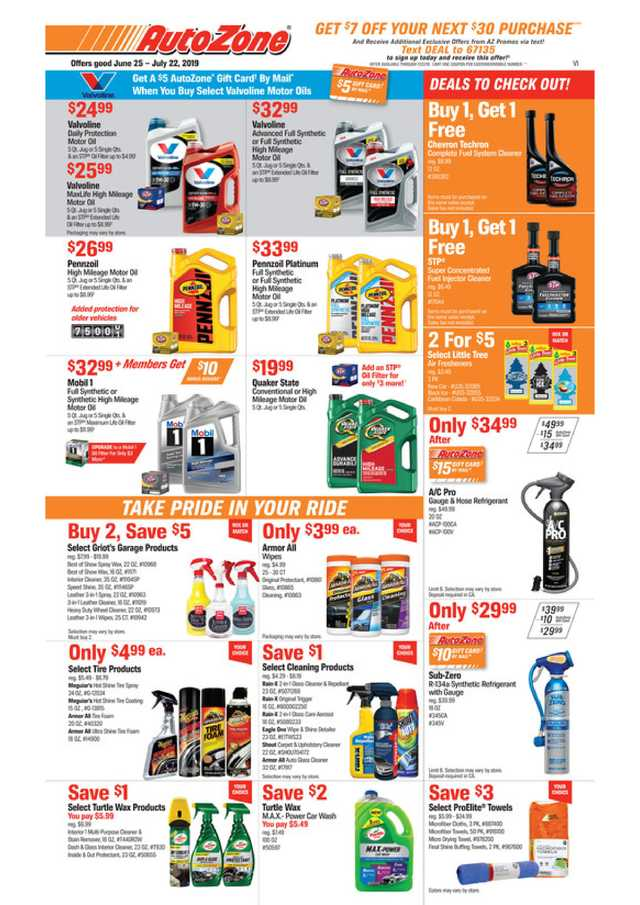 AutoZone - promo starting from 2019-06-25 - page 1