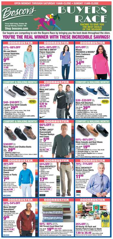 Boscov's - deals are valid from 10/04/19 to 10/14/19 - page 1.