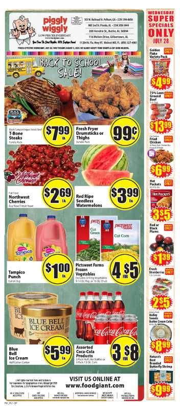 Piggly Wiggly - deals are valid from 07/28/21 to 08/03/21 - page 1.