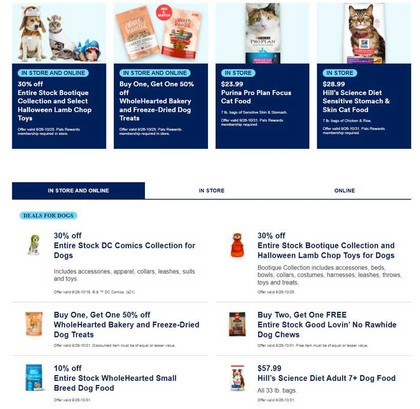 Petco - deals are valid from 09/26/21 to 10/31/21 - page 1.