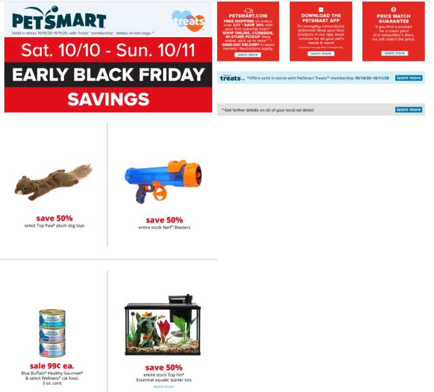 PetSmart - deals are valid from 10/10/20 to 11/11/20 - page 1.